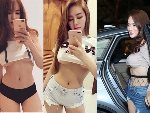 Ngọc Trinh nhận cái kết đắng khi cùng lộ chân ngực với hai mỹ nhân ngực giả Linh Chi và Hương Giang Idol