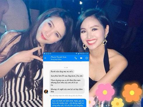 Sốc nặng với loạt tin nhắn hot girl Tâm Tít lăng mạ, chửi bới fans Bảo Thy thậm tệ?