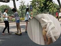 Bé trai 8 tuổi gãy tay khi chơi xe điện tự cân bằng ở phố đi bộ