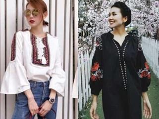 Váy áo thêu họa tiết: Những kiểu dáng đáng sắm nhất cho Xuân/Hè 2017