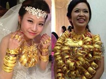 """Những cô dâu suýt """"gãy cổ"""" vì trang sức cưới là vài chục cây vàng ròng"""