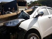 4 người sống sót kỳ diệu trong chiếc xe bị thanh sắt đâm xuyên