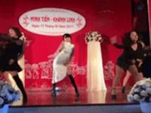 Cô dâu 'quẩy' hit của Hồ Ngọc Hà tặng chú rể gây sốt cộng đồng mạng