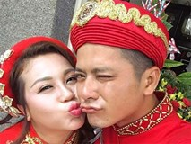 Hoàng Anh điển trai, nhí nhảnh chu môi hôn vợ Việt kiều trong lễ rước dâu