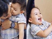 Muôn kiểu biểu cảm 'càng lớn càng yêu' của con trai Khánh Thi - Phan Hiển
