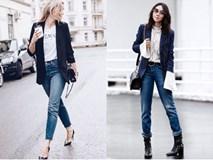 """Đổi gió cho trang phục công sở với cặp đôi """"trời sinh"""": Quần jeans và Áo blazer"""