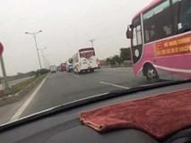 Gần 100 xe khách không chở khách ra Hà Nội phản đối phân tuyến