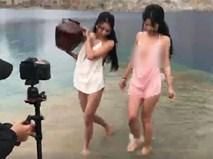 """Hai cô gái chụp ảnh gợi cảm ở """"Tuyệt tình cốc"""" Hải Phòng gây tranh cãi trên MXH"""