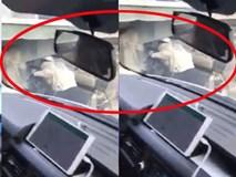 Clip thót tim: Nam thanh niên điều khiển xe máy chui gầm container để tránh kẹt xe