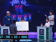 'Thần đồng' 7 tuổi giải toán nhanh hơn cả máy tính khiến Trấn Thành phục sát đất