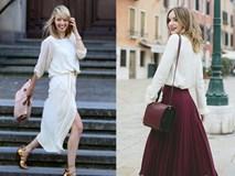 """Gợi ý kết hợp đồ """"đẹp đủ đường"""" với 5 thiết kế chân váy midi quen thuộc"""