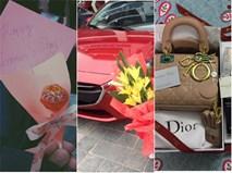 Quà 8/3: Không chỉ hoa hòe son phấn nước hoa, có chị còn nhận được cả xe hơi đỏ chót