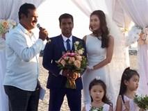 """Diễn viên """"Cổng mặt trời"""" Nguyệt Ánh và chồng Ấn Độ làm đám cưới lãng mạn trên biển"""