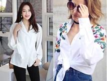 """Sơmi trắng: chiếc áo vốn khô khan đang """"tự F5 mình"""" bằng những cách điệu thú vị"""