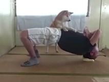 """Huấn luyện viên chó cực nhiệt tình """"đốn tim"""" dân mạng"""