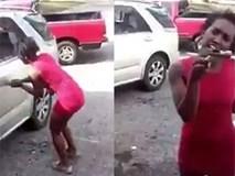 Một phụ nữ đập nát xe hơi hòng trả đũa bạn trai lừa đảo