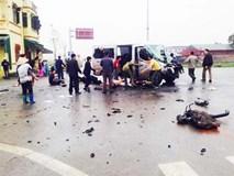 Hai bố con tử vong vụ xe đón dâu va xe tải