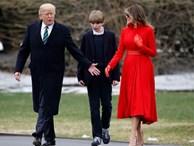Cậu út nhà Trump chững chạc trong lần đầu xuất hiện tại Nhà Trắng