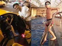 Hà Hồ và Cường Đô La tiếp tục xuất hiện cùng nhau, cổ vũ con trai Subeo ở cuộc thi bơi