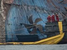 Hình ảnh phà Sewol gỉ sét nghiêm trọng sau 3 năm chìm sâu dưới đáy đại dương