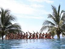 U20 Việt Nam thoải mái vui đùa ở khu nghỉ mát 5 sao