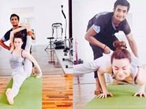 Nhìn Hồ Ngọc Hà tập yoga như này ai cũng muốn làm HLV một lần