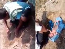 Bé gái còn nguyên dây rốn bị chôn sống trong hố cát lúc nửa đêm