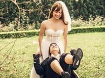 """9x bắt chồng mặc váy cưới, kết quả """"câm nín"""" vì chú rể còn xinh hơn cả cô dâu"""