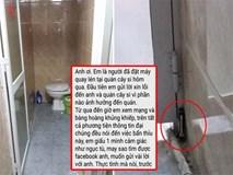 Vụ đặt máy quay lén ở nhà vệ sinh: Xuất hiện người nhắn tin xin lỗi