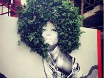 Phát sốt với những bức tranh kết hợp cây trên tường đẹp đến không tưởng