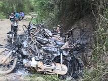 Đoàn kiểm tra rừng bị lâm tặc đốt 9 xe máy