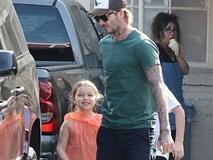 Con gái út nhà Beckham vui vẻ đi làm đẹp với bố