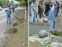 Mưa đá to khủng khiếp ở Trung Quốc