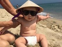Con trai lai Tây của Thảo Trang đáng yêu khi đi ngắm biển