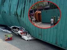 Nam Định: Xe container đè bẹp ô tô 7 chỗ, ít nhất 2 người tử vong