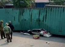 2 nạn nhân tử vong trong vụ container đè nát ô tô con là giáo viên