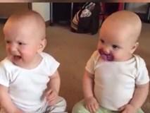 Chết cười 2 em bé tranh nhau 1 cái ti