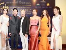 Huyền My nổi bật bên dàn người đẹp Hoa hậu Hòa bình Thế giới ở họp báo