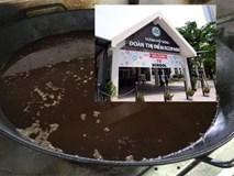 Trường Đoàn Thị Điểm Ecopark thừa nhận bếp ăn có chảo dầu đen ngòm