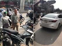 Va chạm giao thông, tài xế ô tô bắt đền không được liền vứt chìa khóa của người phụ nữ đi xe máy