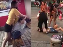 Vợ đi đánh ghen bị nhân tình đè ra đánh lại tới tấp