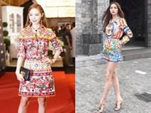 Rạng rỡ trên thảm đỏ, ai ngờ váy của Minh Hằng đụng hàng váy Hà Hồ mặc năm ngoái