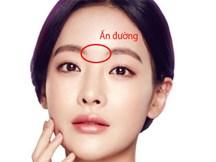 Ấn đường là khoảng cách giữa hai lông mày, sẽ tiết lộ tính cách cũng như thành bại trong đời người