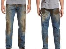 """Quần jeans """"dính bùn"""" bẩn lem nhem có giá 10 triệu đồng gây choáng"""