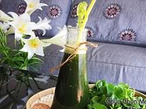 Cách làm sinh tố rau má nước dừa mát lạnh cho mùa hè