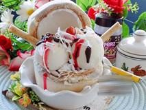 Cách làm kem dừa thơm mát, lạnh tê lưỡi cho ngày hè