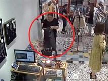 Camera ghi hình người phụ nữ trộm 22 triệu đồng ở shop thời trang