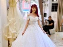 Hé lộ bộ váy cưới đính 8.000 viên pha lê lấp lánh của cô dâu Khởi My