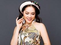 Dương Cẩm Lynh khoe eo thon dáng nuột với áo dài cách tân