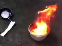 Nước giếng ở Đồng Nai bốc cháy ngùn ngụt